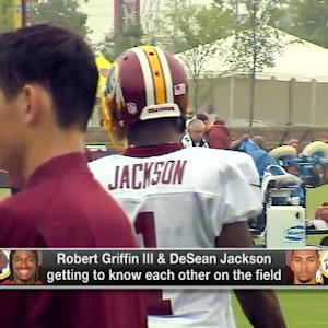 Relationship getting stronger between Washington Redskins QB RGIII and wide receiver DeSean Jackson