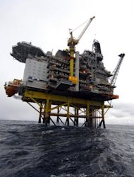 &lt;p&gt;An oil platform in the Norwegian Sea is pictured in 2007. Global oil prices slid Tuesday after Norway halted an oil workers&#39; strike that threatened production and news of weak Chinese crude imports raised demand concerns.&lt;/p&gt;