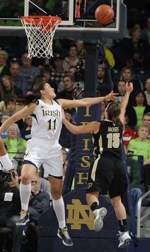 McBride helps Notre Dame women roll past Purdue