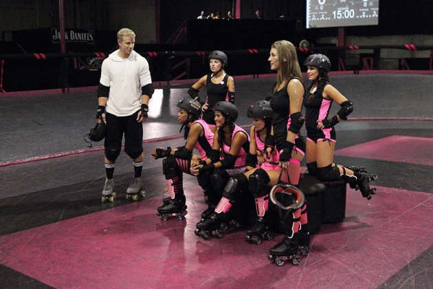 """Episode 1704"" - A gritty warehouse is the location for a topsy-turvy roller derby with Sean and eight of the bachelorettes. Sarah faces another physical challenge that causes her to have emotional breakdown, but Sean proves to be supportive and helps her to try and overcome her fears. All of the women push themselves past their limits until one woman falls hard and is rushed to the hospital. At the after party that night, fireworks erupt as Robyn and Tierra clash, leading one of them to storm off, threaten to leave and then dissolve in tears. It's up to Sean again to comfort the distraught woman and to figure out if the tears are genuine or crocodile, meant to manipulate him into giving her a rose, on ""The Bachelor."""