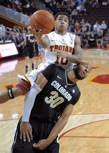 Roberson, Colorado had USC 9th straight loss 74-50