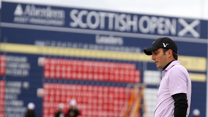 Italy's Francesco Molinari on the eighteenth hole during day two of the Aberdeen Asset Management Scottish Open at the Castle Stuart Golf Links, in Inverness, Scotland, Friday July 13, 2012. (AP Photo / Lynne Cameron, PA) UNITED KINGDOM OUT - NO SALES - NO ARCHIVE