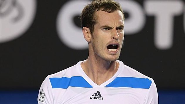 Andy Murray of Great Britain celebrates winning his second round match against Vincent Millot (Getty Images)