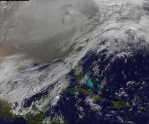 Swirling 'Polar Vortex' Over Northern US Seen From Space