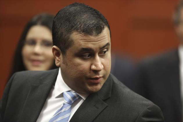 In this Monday, July 1, 2013 photo, George Zimmerman enters the Seminole County Courthouse, in Sanford, Fla., during his trial on second degree murder for the killing of Trayvon Martin. Whether they t