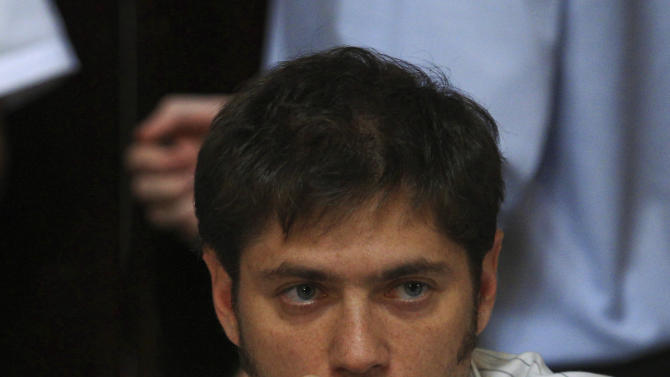 In this April 17, 2012 photo, Argentina's Vice Economy Minister Axel Kicillof, the architect of the expropriation of Spain's oil company YPF-Repsol, attends a congressional debate on a bill proposed by President Cristina Fernandez to gain control over the country's energy reserves, in Buenos Aires, Argentina. (AP Photo/Natacha Pisarenko)