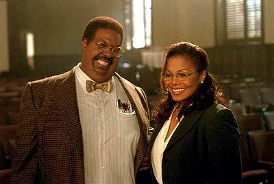 Sherman Klump ( Eddie Murphy ) and Denise Gains ( Janet Jackson ) in Universal's Nutty Professor II: The Klumps