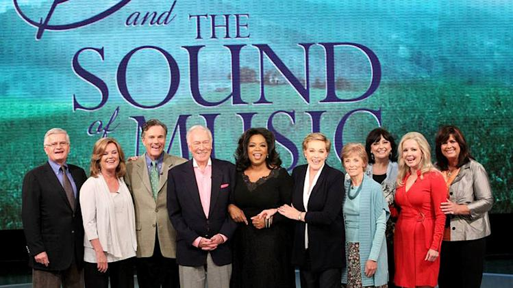 "the cast of The Sound of Music reunites on ""The Oprah Winfrey Show."""