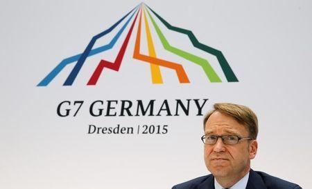 German Bundesbank President Weidmann addresses a news conference at the G7 finance ministers and central bankers meeting in Dresden