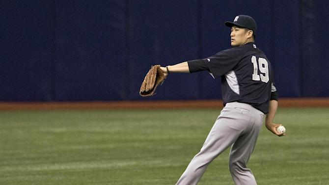 Yankees RHP Tanaka throws 35-pitch bullpen session