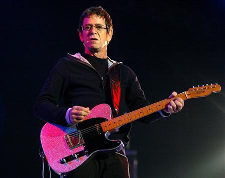 File photo of U.S. musician Lou Reed during his concert in Santiago de Compostela