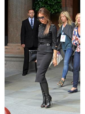 The always fashionable Victoria Beckham out and about in London on June 26, 2012 -- Getty Images