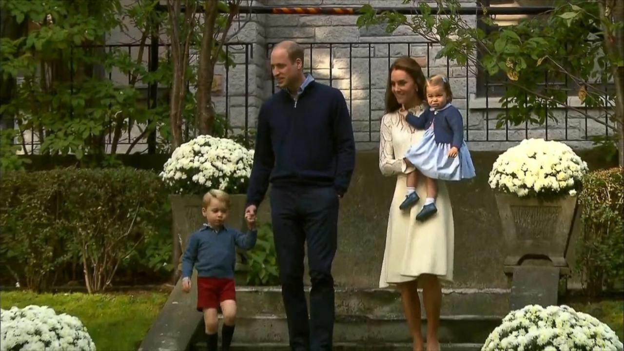 Princess Charlotte Walks and Talks at Military Children's Party in Canada Alongside Prince George