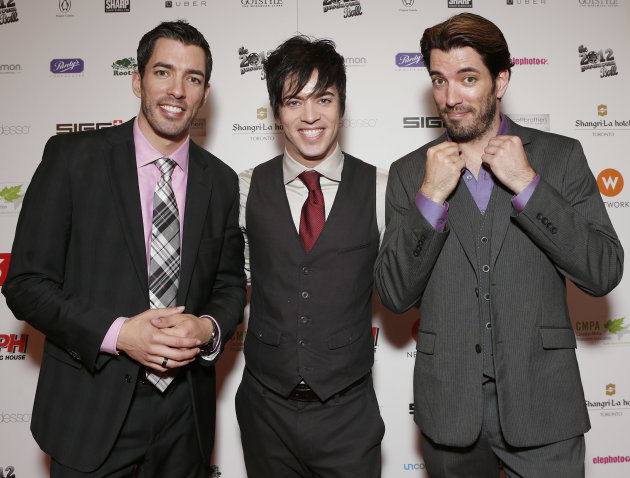 Jonathan Silver Scott,  J.D. Scott and Drew Scott attend the Producers Ball 2012 at the Shangri-La Toronto on Wednesday Sept. 5, 2012, in Toronto, Canada. (Photo by Todd Williamson/Invision for the Pr