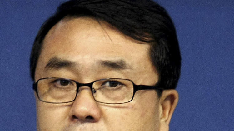 FILE - In this Oct. 21, 2008 file photo, Chongqing police chief Wang Lijun speaks at a news conference in southwest China's Chongqing Municipality. The Chinese police chief whose flight to a U.S. consulate set off a messy political scandal will stand trial Tuesday, Sept. 18, 2012 on charges of attempted defection and bribery, as China's leadership tries to wrap up the turbulent affair before new leaders are put in power in coming weeks. (AP Photo, File) CHINA OUT
