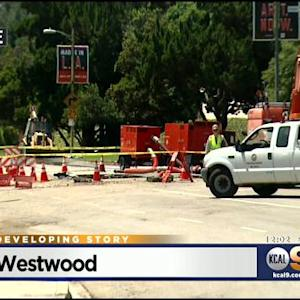 Cleanup Continues At UCLA Following Sunset Blvd. Water Main Break
