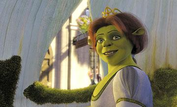 Fiona ( Cameron Diaz ) rides back to her home in Dreamworks' Shrek 2