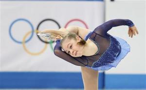 Yulia Lipnitskaya during the figure skating team ladies short program at the Sochi 2014 Winter Olympics