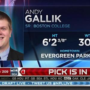 Tennessee Titans pick center Andy Gallik No. 208 in 2015 NFL Draft