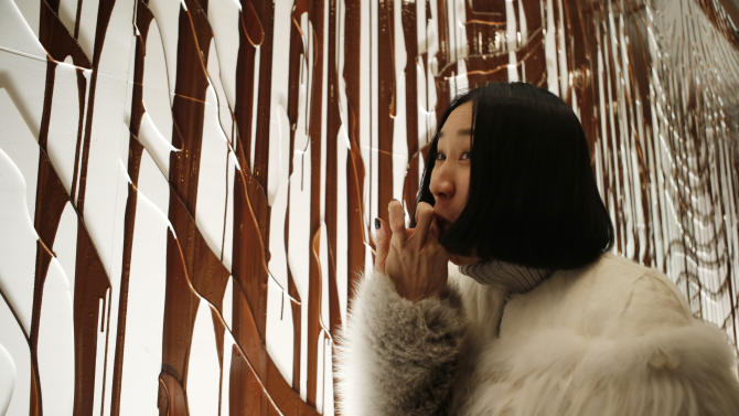 Fashion Week: Chocolate wall at Opening Ceremony