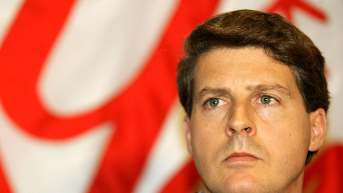 File-This Dec. 18, 2008 file photo shows New York Yankees co-chairman Hal Steinbrenner  during a news conference.  Steinbrenner says he has been disappointed by Alex Rodriguez's behavior at times during the star third baseman's career in pinstripes. Steinbrenner made the comments after attending a news conference at Yankee Stadium on Monday June 3, 2013 to announce that the Big Ten and Pinstripe Bowl have agreed to an eight-year deal.  (AP Photo/Kathy Willens, File)