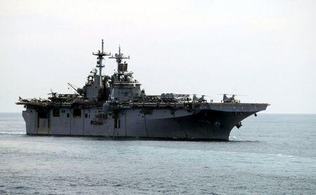 File photo of a USS Boxer LHD travelling at an offshore location in Goa