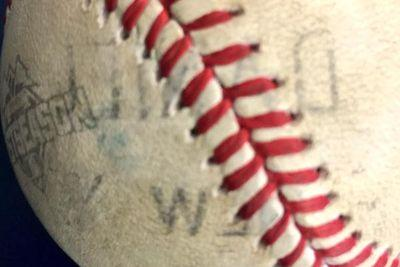Daniel Murphy branded his name onto a baseball on a home run