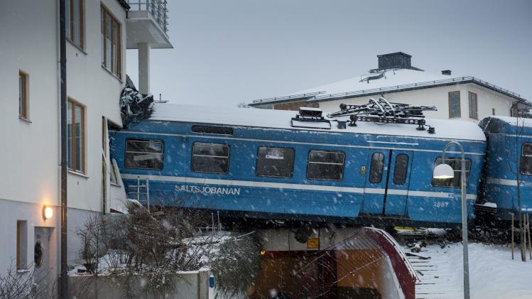 Stolen train crashes into building in Sweden