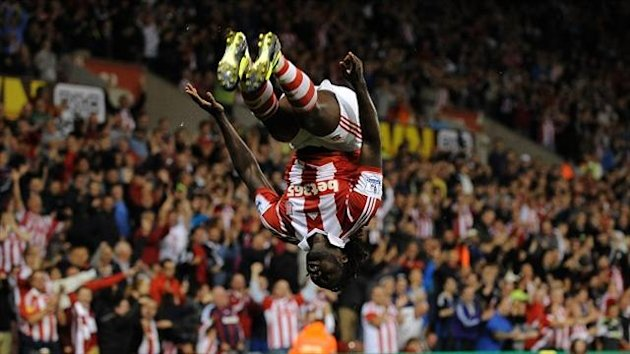 Kenwyne Jones scored all of Stoke's goals in their 3-1 win over Walsall