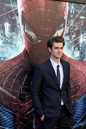 "Andrew Garfield attends the world premiere of ""The Amazing Spider-Man"" at the Regency Village Theatre on Thursday, June 28, 2012 in Los Angeles. (Photo by John Shearer/Invision/AP)"