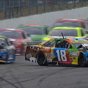 Busch and Kahne wreck off Turn 2