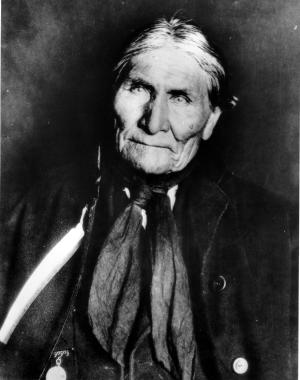 "FILE - This undated file photo shows the Chiricahua Apache Geronimo, late in his life. The leader of the Fort Sill Apache Tribe is looking for a formal apology from President Barack Obama for the government's use of the code name ""Geronimo"" for Osama bin Laden. (AP Photo, File)"