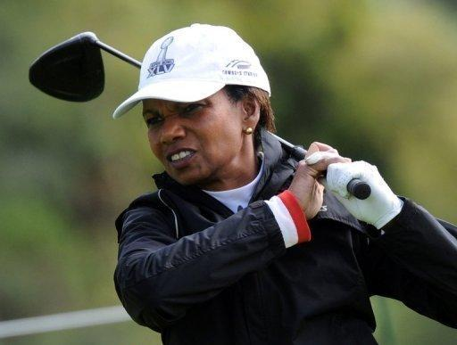 Former US Secretary of State Condoleezza Rice is one of the first women members of the  Augusta National Golf Club
