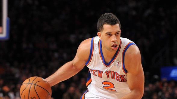 Landry Fields #2 Of The New York Knicks Controls Getty Images