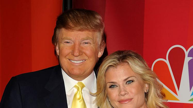 Donald Trump and Alison Sweeney attend the 2010 NBC Upfront presentation at The Hilton Hotel on May 17, 2010 in New York City.