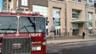 A family was rescued Wednesday from an elevator filling with water in downtown Calgary.