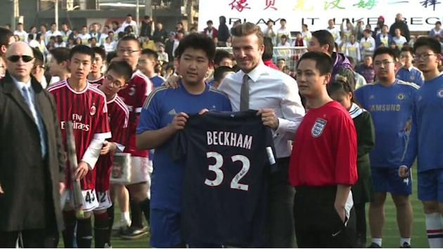 In China, Beckham says he could play on