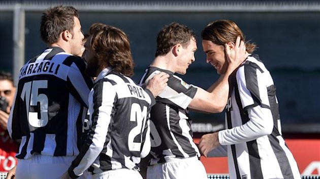 Jugadores de la Juventus celebrando un gol