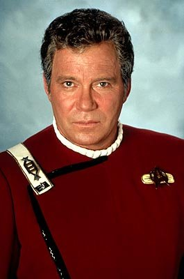 William Shatner as James T. Kirk in Paramount's Star Trek VI