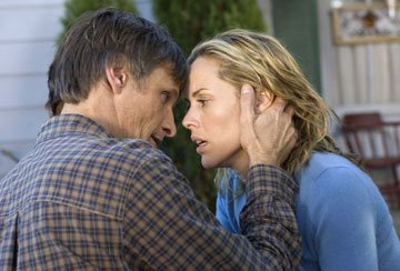 Viggo Mortensen and Maria Bello in New Line Cinema's A History of Violence