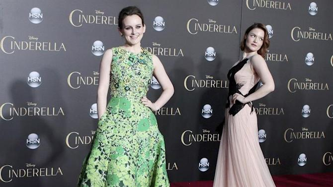 . Los Angeles (United States), 02/03/2015.- British actresses and cast members Sophie McShera (L) and Holliday Grainger (R) arrive for the world premiere of Disney's 'Cinderella' at the El Capitan Theatre Hollywood, Los Angeles, California, USA, 01 March 2015. The movie opens in US theaters on 13 March 2015. (Estados Unidos) EFE/EPA/NINA PROMMER