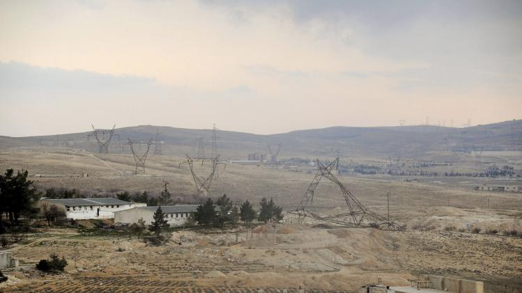 A view of a part of the town of Yabroud which is a major rebel bastion near the Lebanese border north of Damascus