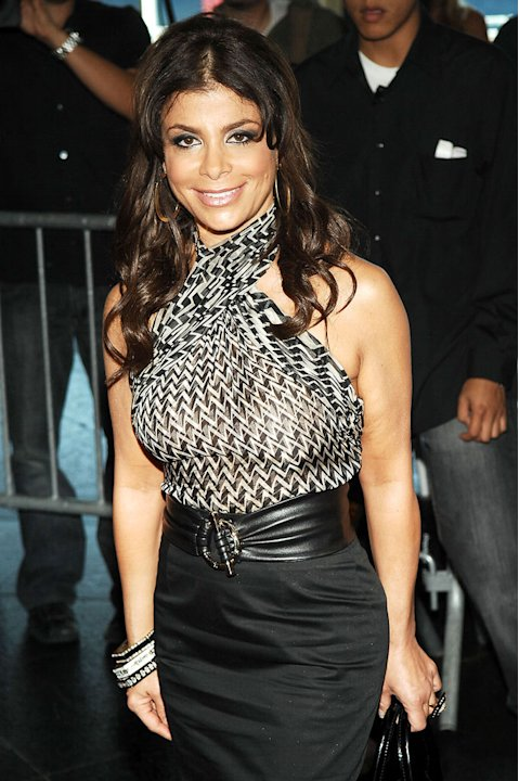 "Paula Abdul attends auditions for ""American Idol"" season 8 at Chelsea Piers on August 26, 2008 in New York City."