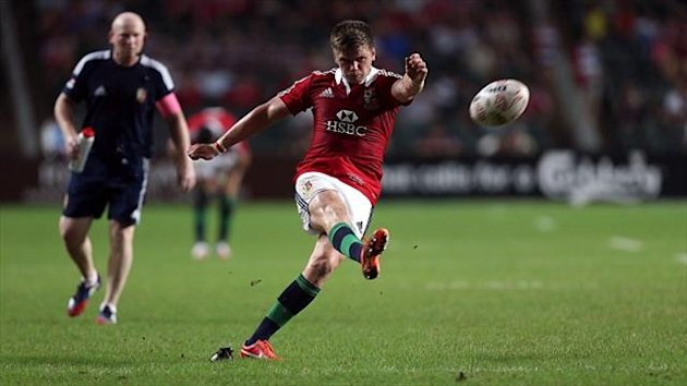 Owen Farrell, pictured, has played down the incident with Schalk Brits