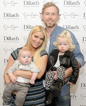 Jessica Simpson, Fiance Eric Johnson, and Children Maxwell and Ace Look Adorable in First Family Red Carpet Event: Picture