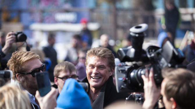 The Hoff lends star power to Berlin Wall campaign