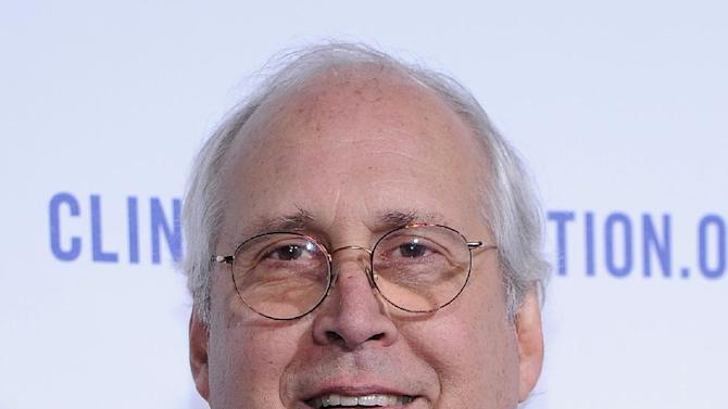 """FILE - In this Oct. 14, 2011 file photo, actor Chevy Chase arrives at The Clinton Foundation Gala in Honor of """"A Decade of Difference"""", at The Hollywood Palladium in Hollywood, Calif. A second voicemail message from Chevy Chase leaked online Tuesday, depicting a deep rift between the veteran comedian and his ratings-challenged NBC sitcom """"Community.""""  (AP Photo/Kristian Dowling)"""
