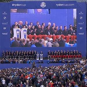 Ryder Cup closing ceremonies