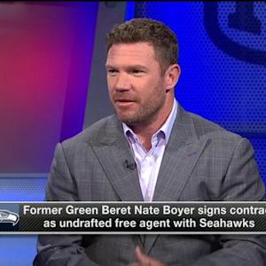 Seattle Seahawks long snapper Nate Boyer: 'I'm ready to get to work'