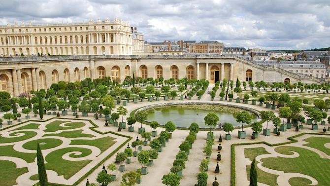 The Versailles Palace outside of Paris.